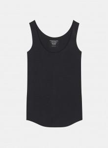 Ribbed V-neck T-shirt -