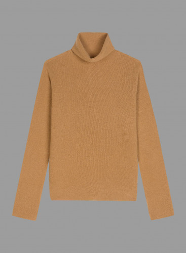 Stand-up collar Eco Cashmere sharp edge Sweater