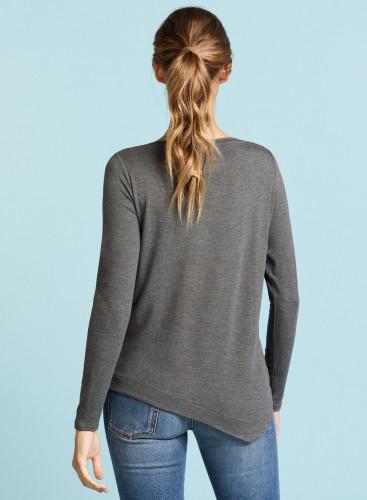 Asymmetrical sailor neck t-shirt