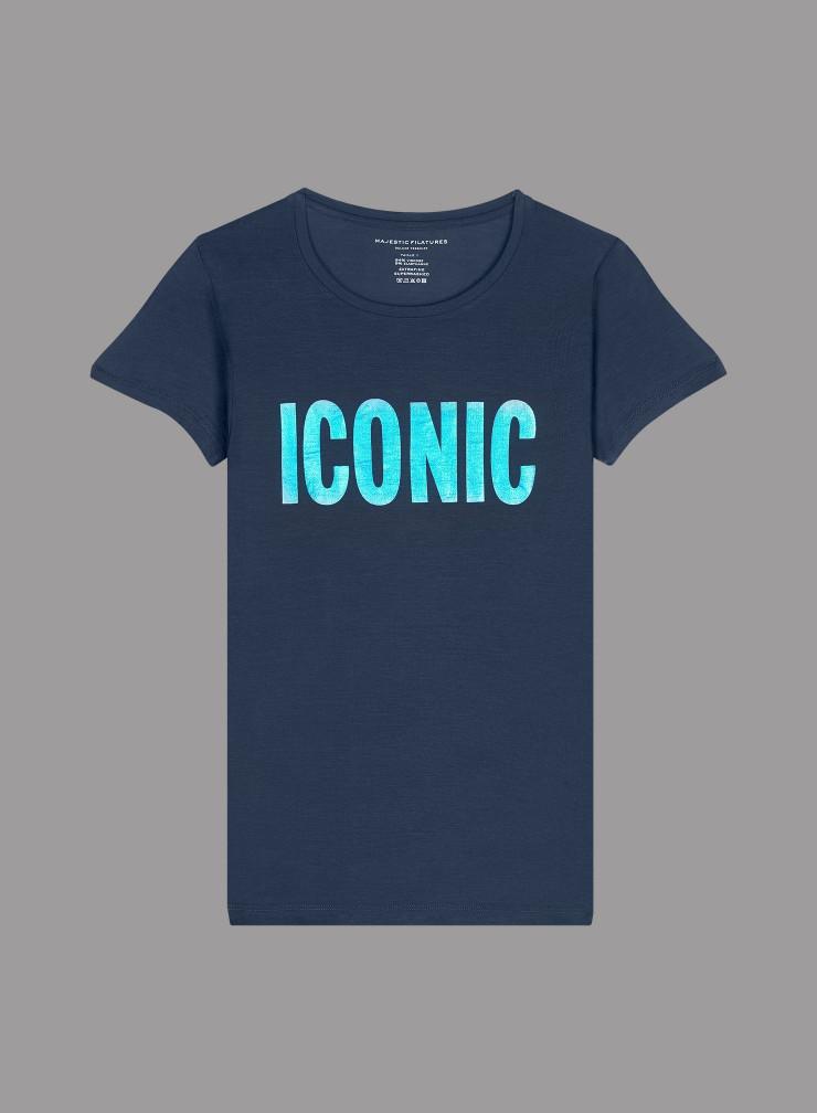 T-shirt col rond imprimé ICONIC