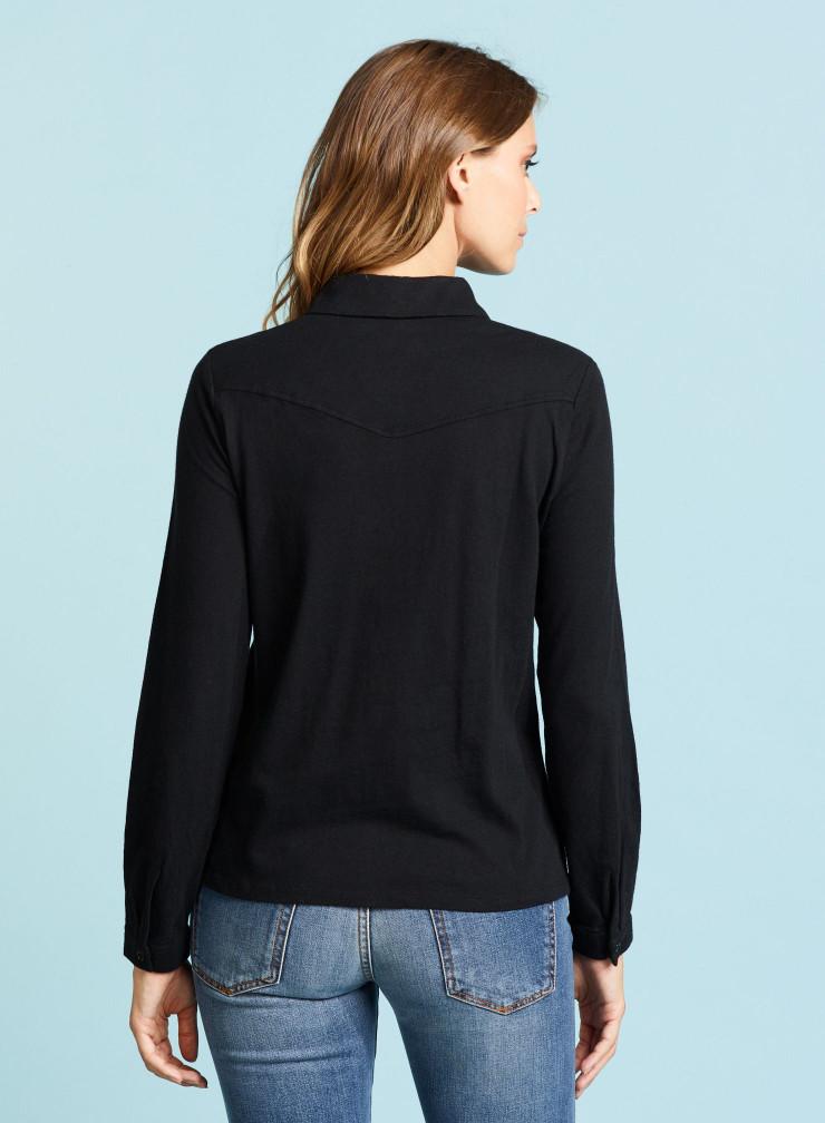 Chemise poche poitrine et découpe dos