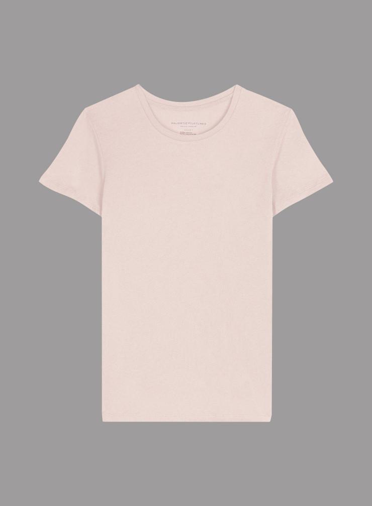 T-shirt col rond évasé