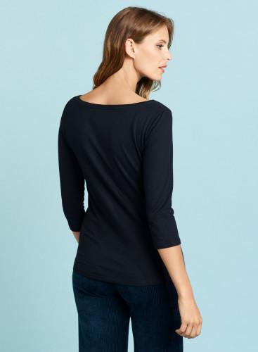 Sailor neck T-shirt