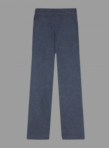 Pantalon double face coupe large