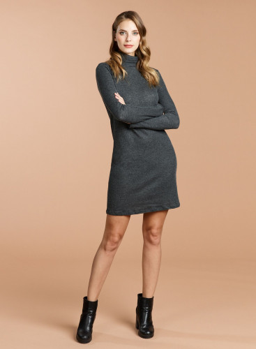 Double face turtleneck Dress
