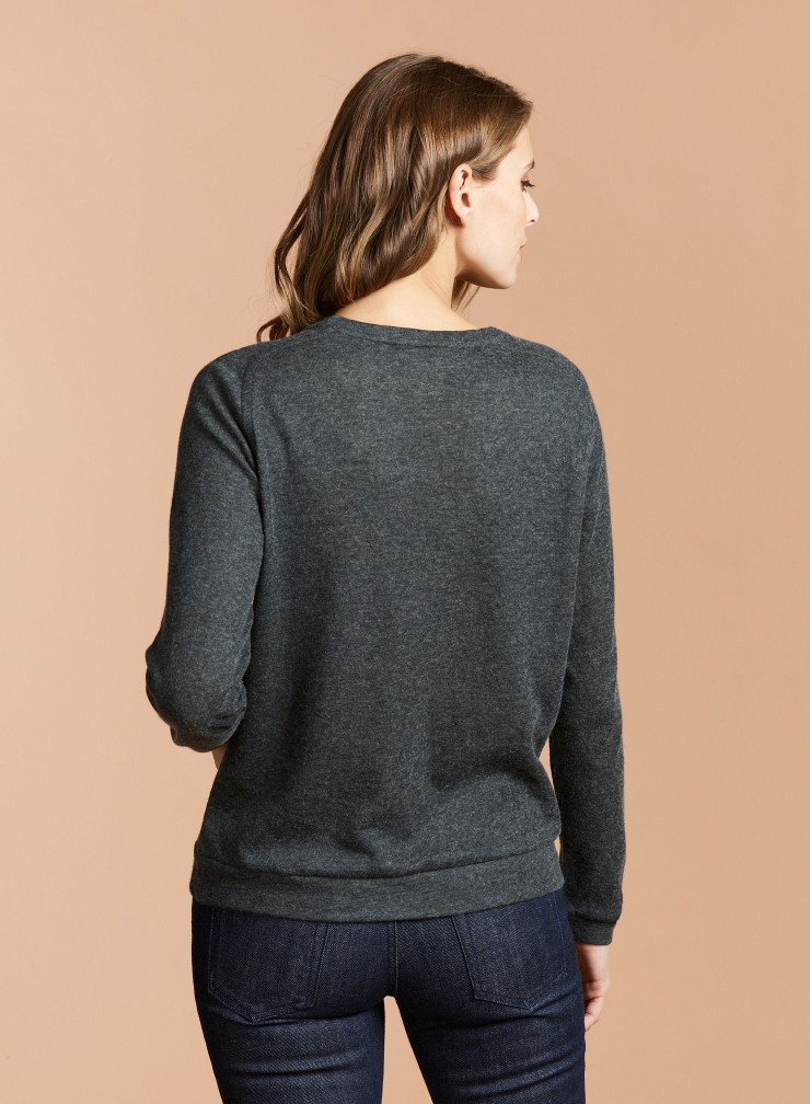 Double face round neck Sweater