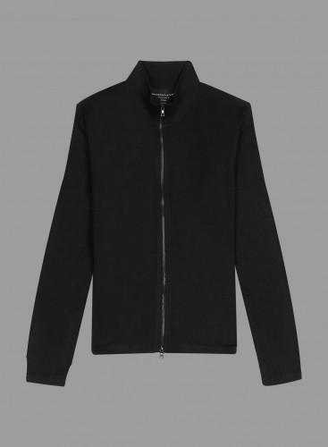 Zipped stand-up collar Cardigan