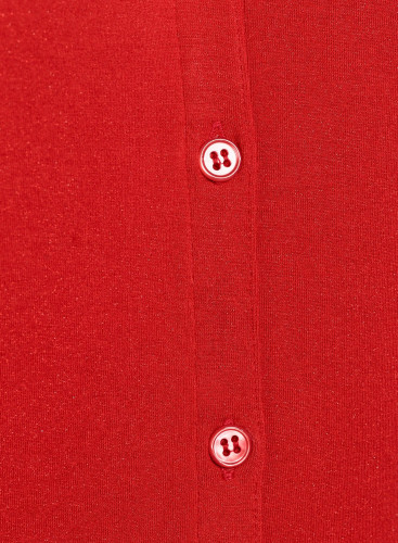 Button V-neck metallized Blouse