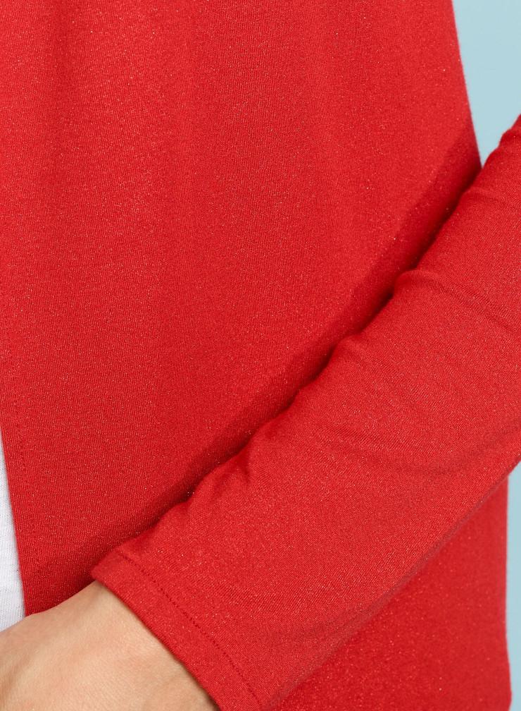 Metallized cozy cardigan