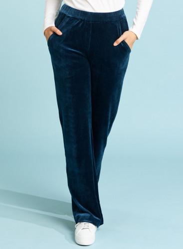 Velvet large fit pants