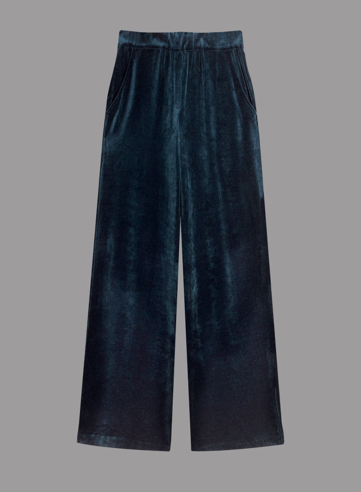 Velvet large fit pants
