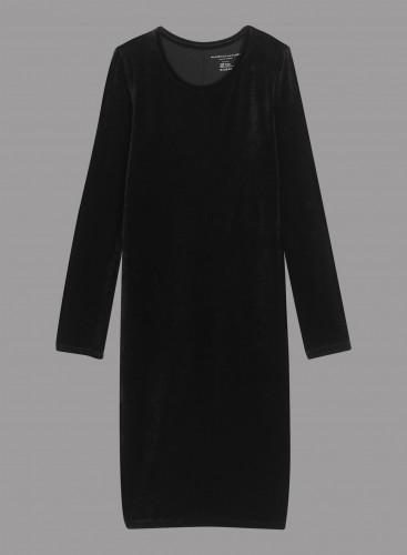 Velvet round neck Dress