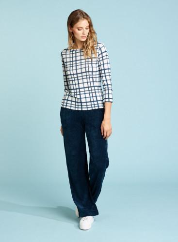 Pantalon velours côtelé coupe large