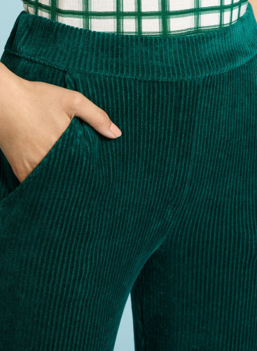 Corduroy large fit Pants