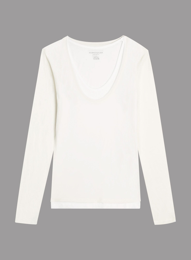Double U-neck T-shirt