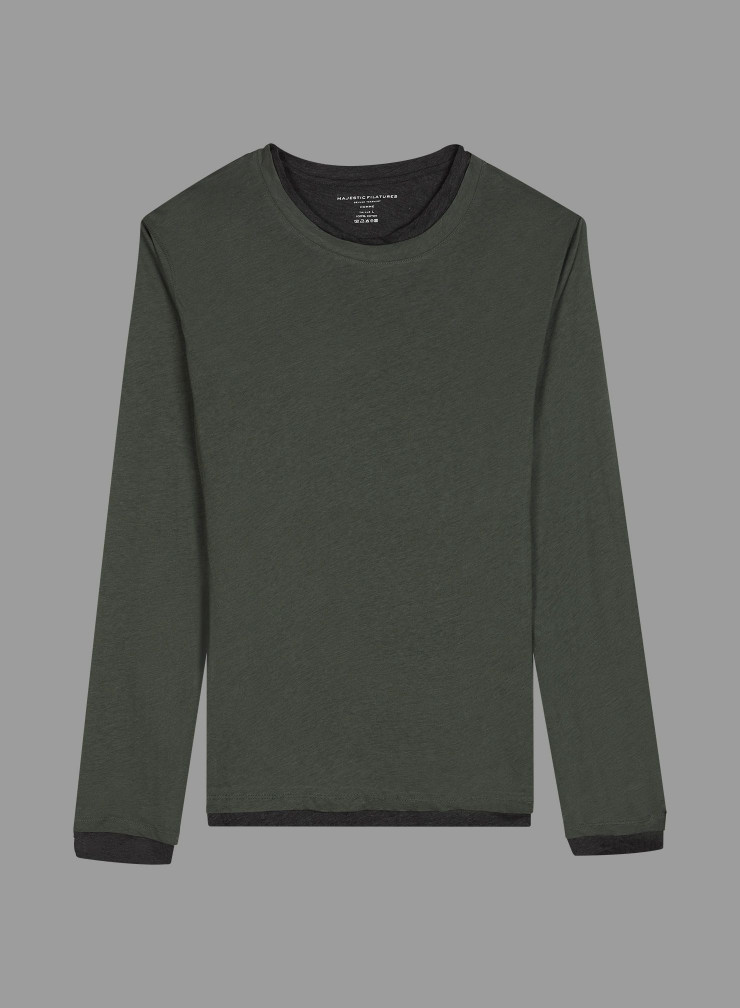 T-shirt col rond double