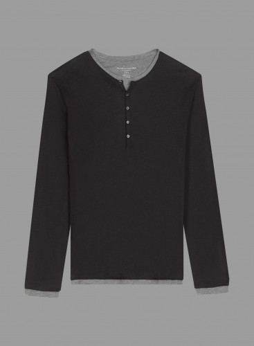 Double tunisian collar T-shirt