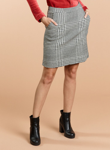 Check and handstooth pattern Skirt