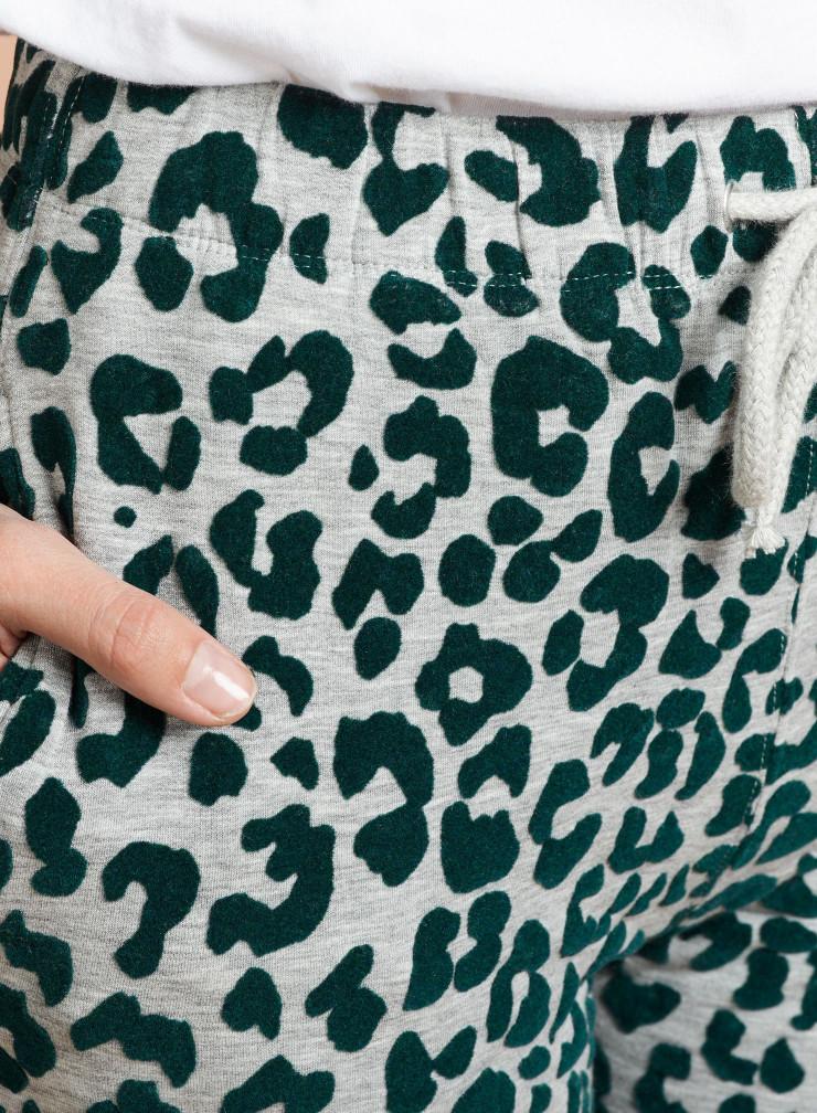 Velvet panther pattern Jogger Pants