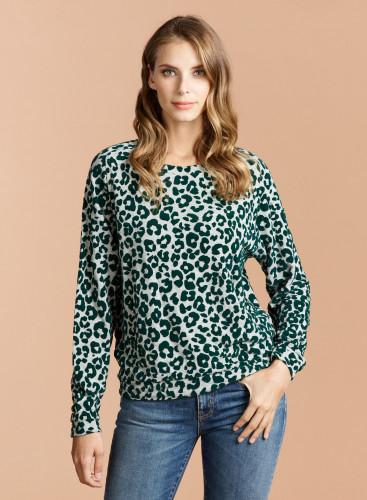 Velvet panther pattern sweatshirt