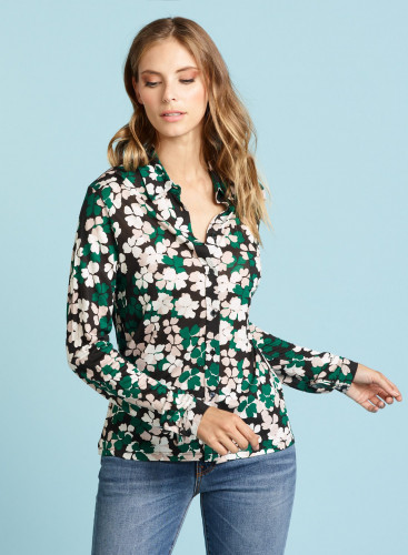 Four-leaf clover printed Shirt