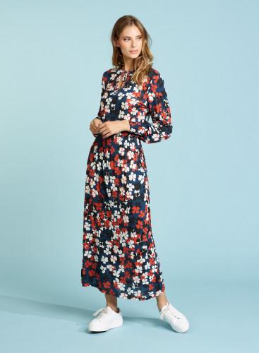 Four-leaf clover printed Dress