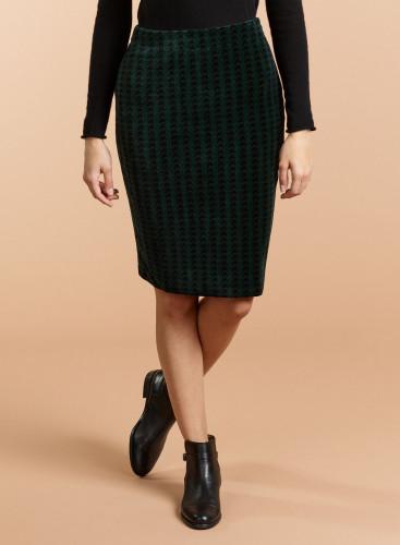 Velvet houndstooth Skirt
