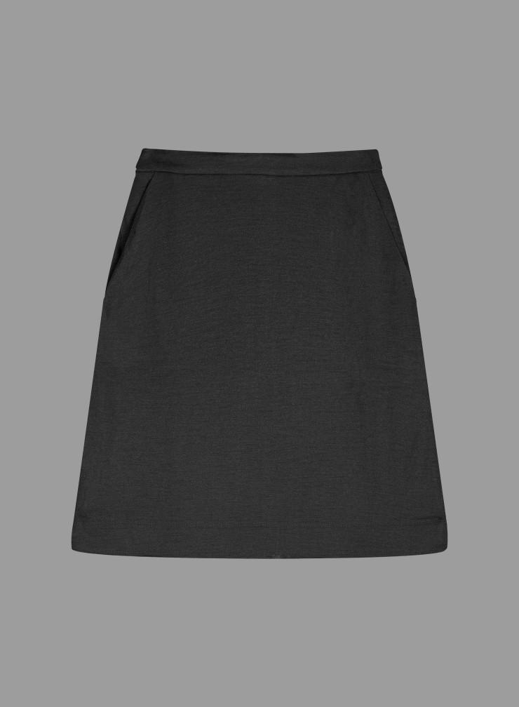Short woolen mix Skirt