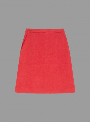 Short woolen mix Skirt