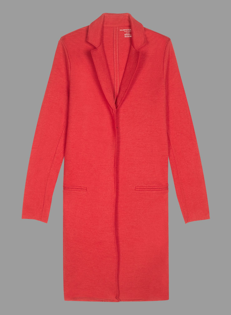 Manteau mi-saison en laine mélangée