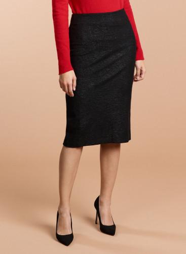 Pencil metallized Skirt