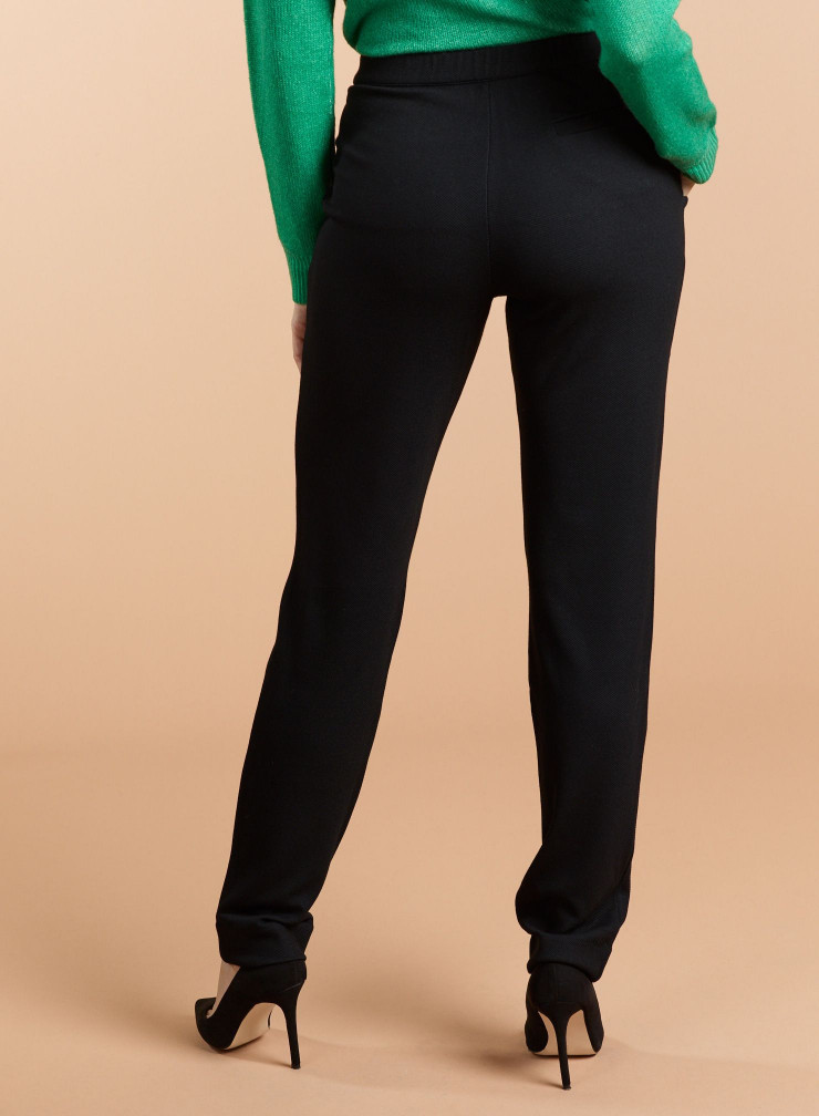 Fine ribbed straight Pants