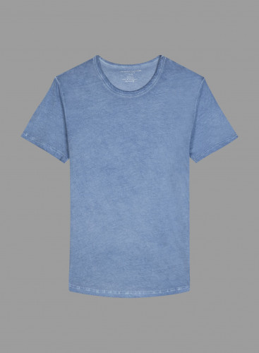 Hand dyed round neck T-shirt