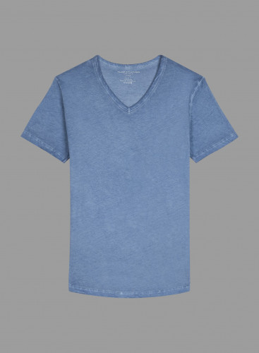 Hand dyed V-neck T-shirt
