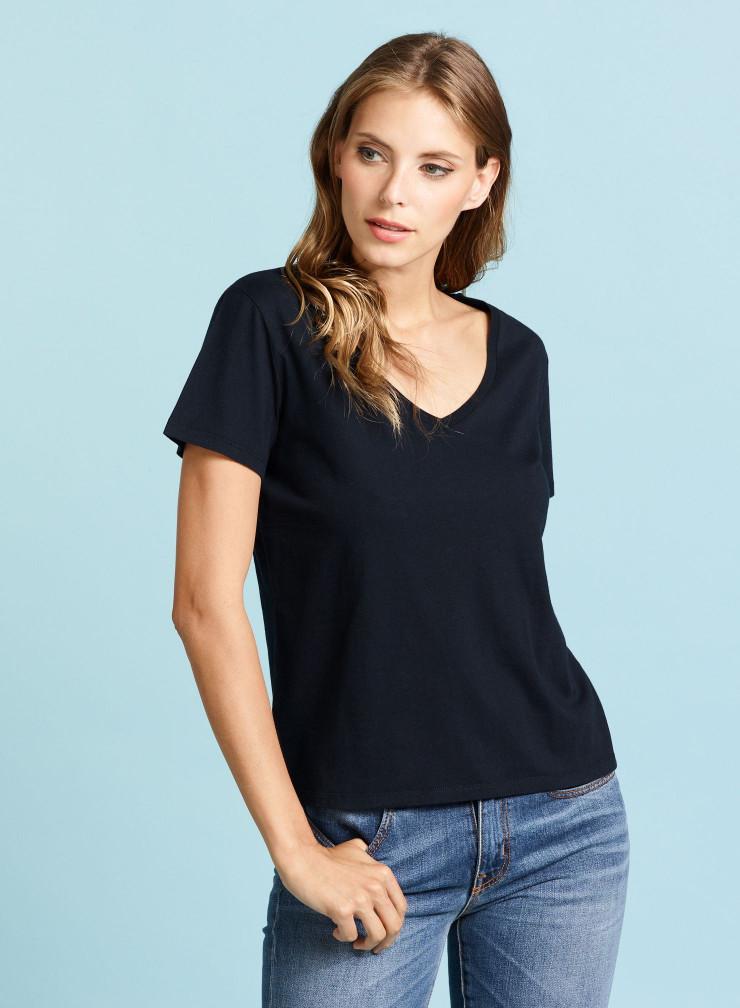 Silk Touch V-neck T-shirt