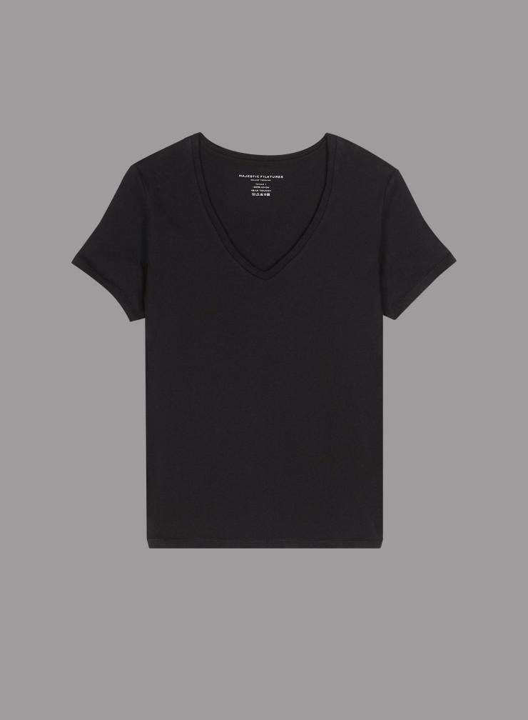 T-shirt col V Silk Touch