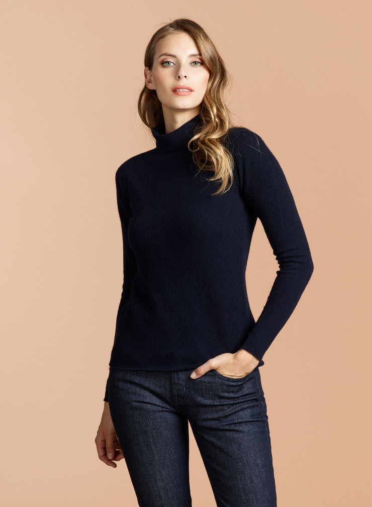 Pull Eco Cashmere col montant bord franc
