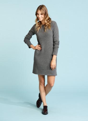 Eco Cashmere sharp edge Dress