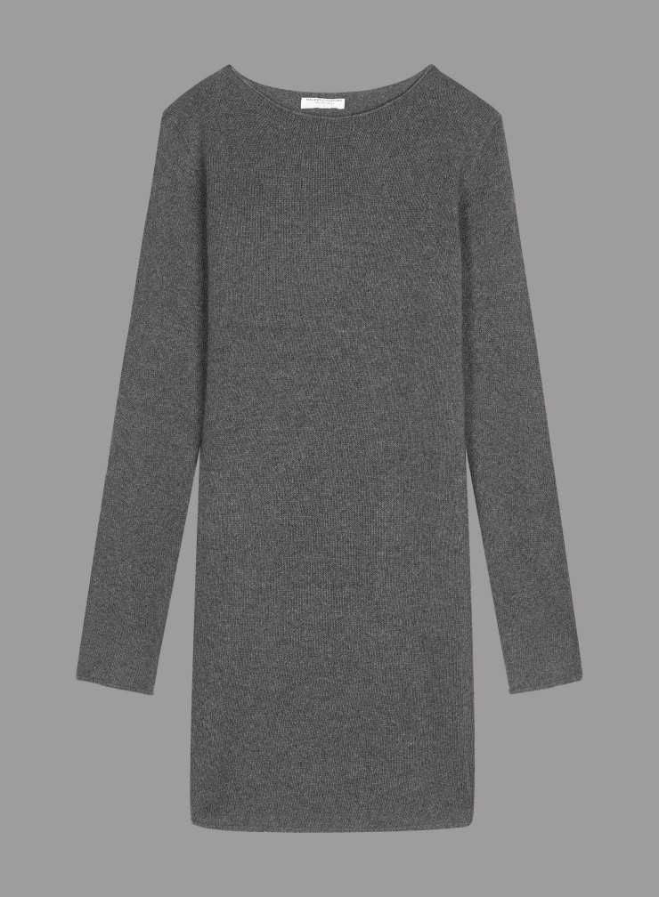 Eco Cashmere sharp edge Dress