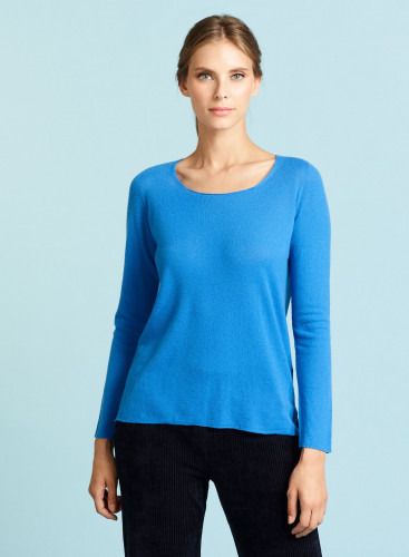 Pull col rond manches marteau bord franc