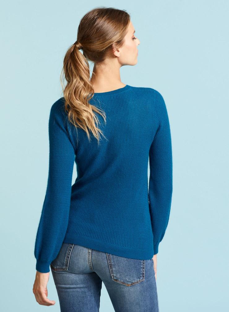Round neck balloon sleeve Sweater