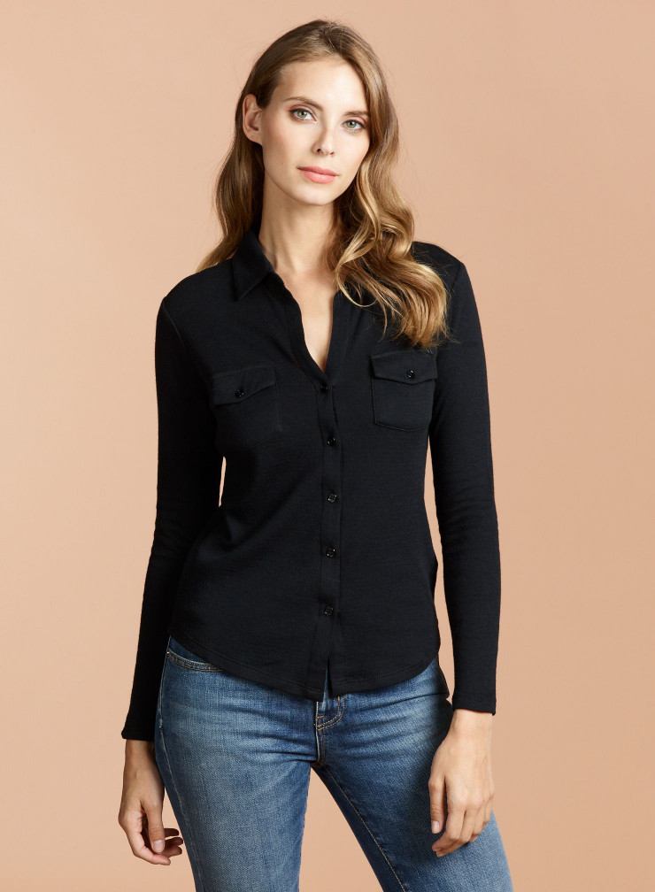 Chemise double face poches poitrines