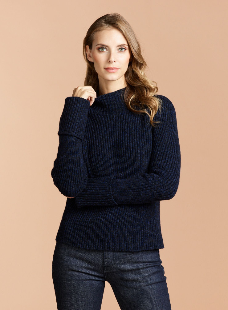 Eco Cashmere stand-up collar Sweater