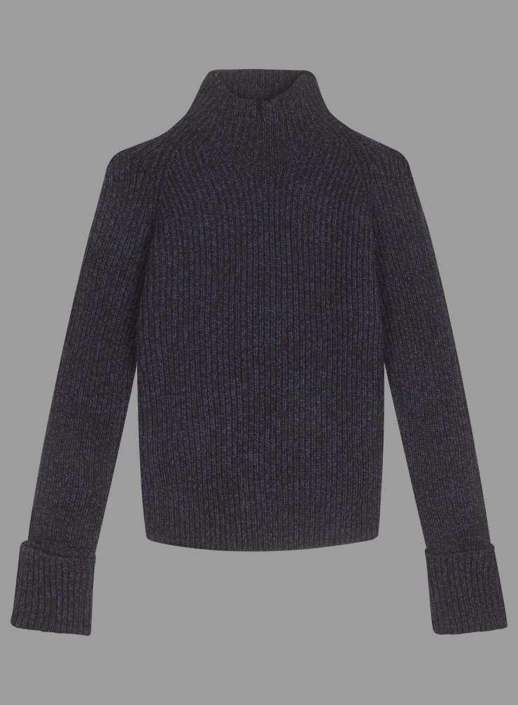 Pull Eco Cashmere col montant poignets à revers extra-larges