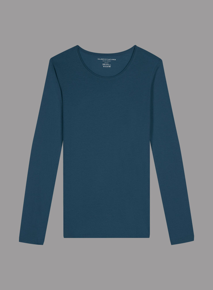 Carly rolled finish round neck T-shirt