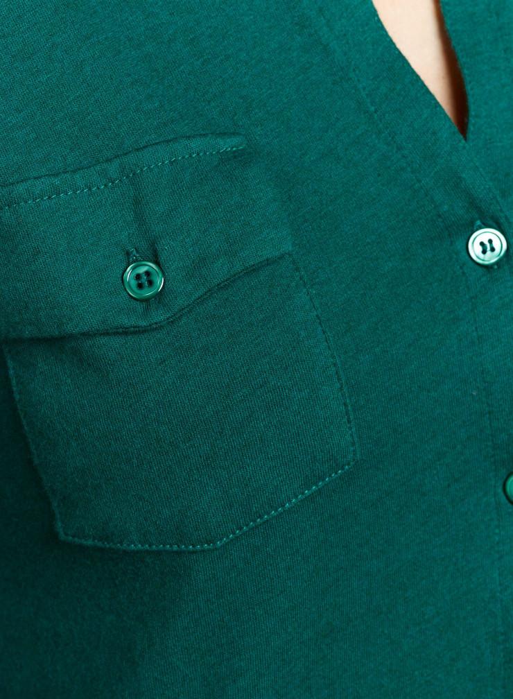 Clara button V-neck Blouse