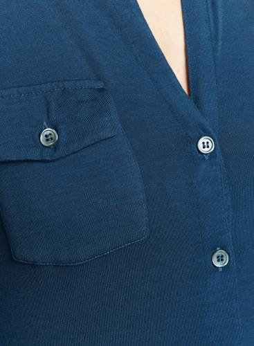Chemise poches poitrine col en V