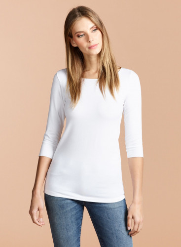 Adèle Boat Neck T-shirt