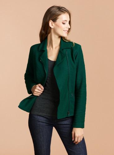 Molton asymmetrical zipped Jacket