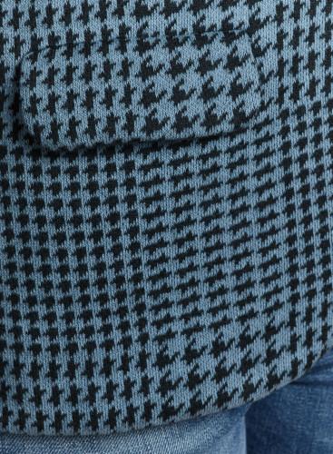 Veste 1 bouton à carreaux motif pied-de-poule